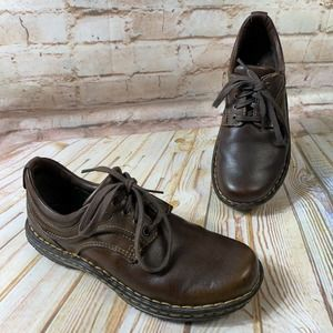 Born JEAN Leather Lace Up Oxford Shoes Flats EUC